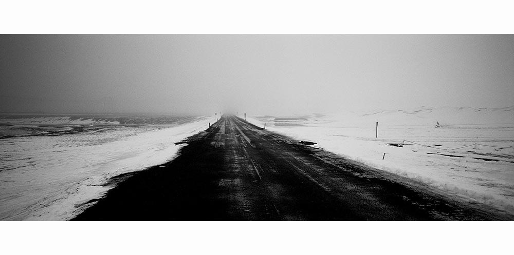 route nationale d'islande en hiver