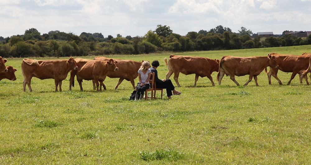 Elodie Lachaud et Davide Napoli Performance chantons aux vaches 4