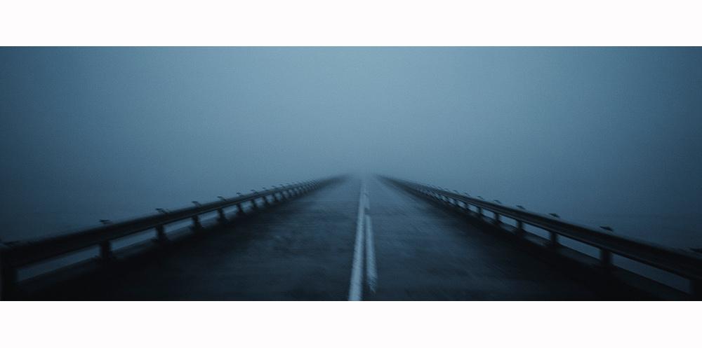 route d'islande floue en hiver