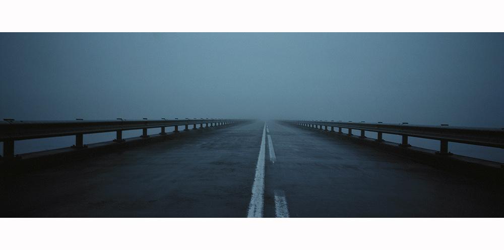 photo contemporaine de route d'Islande