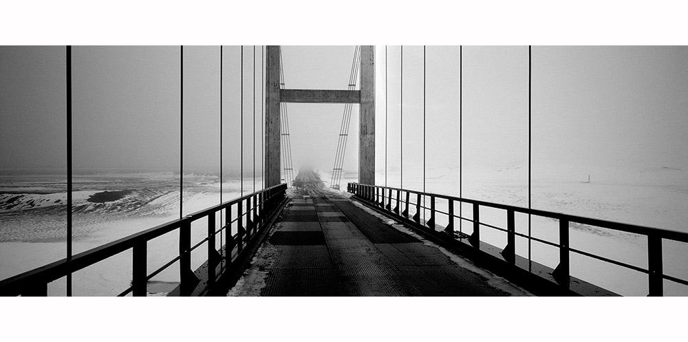 Pont d'islande et neige