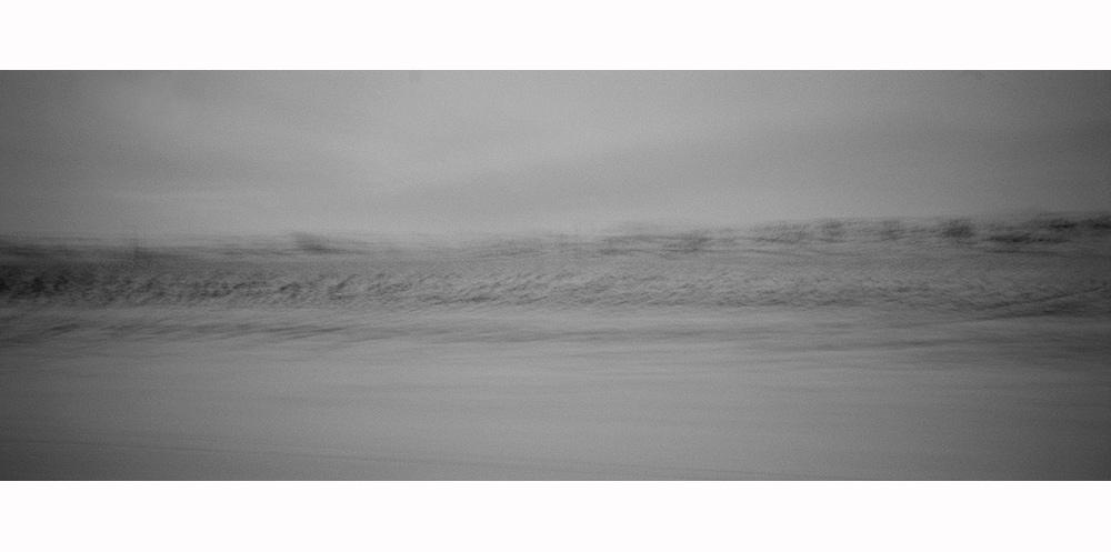 paysage flou d'islande
