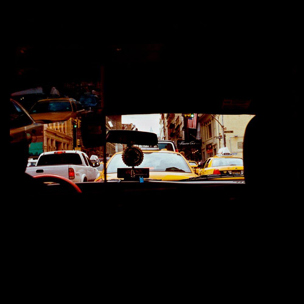 street photographie de taxi a new york