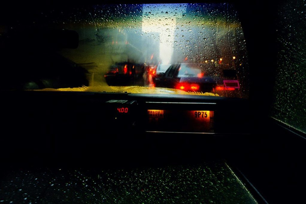 street photographie de taxi a new york