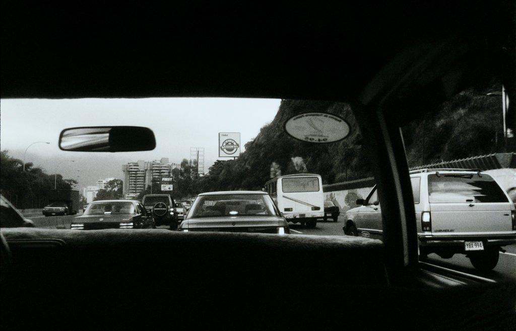 photographie argentique de voyage en taxi au venezuela